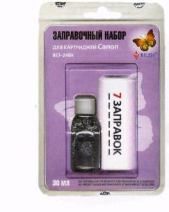 Заправочный набор для заправки картриджей струйных принтеров Canon BCI-24 Bk Арт.: RK-C05